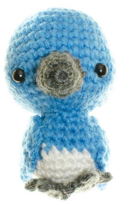 crochet amigurumi pattern blue bird