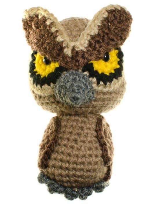 crochet amigurumi pattern owl