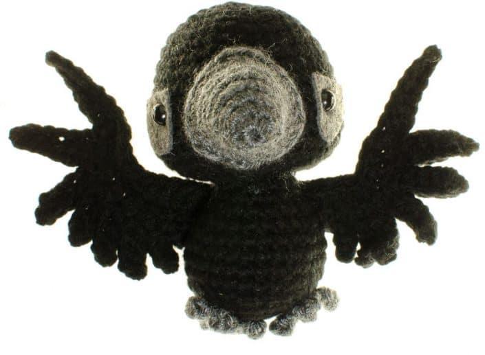 crochet amigurumi pattern raven